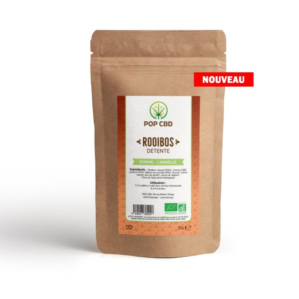 INFUSION CBD DETENTE ROOIBOS POMME CANNELLE
